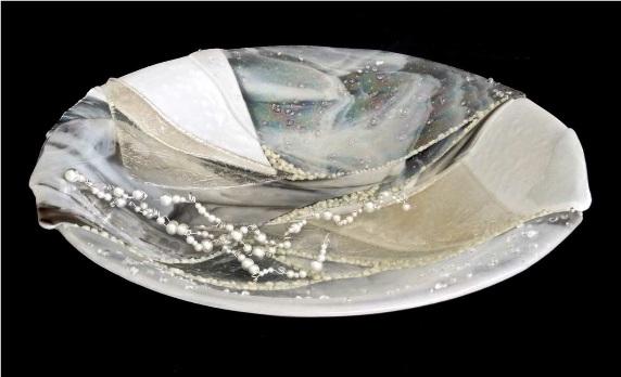 glass art formed in kiln