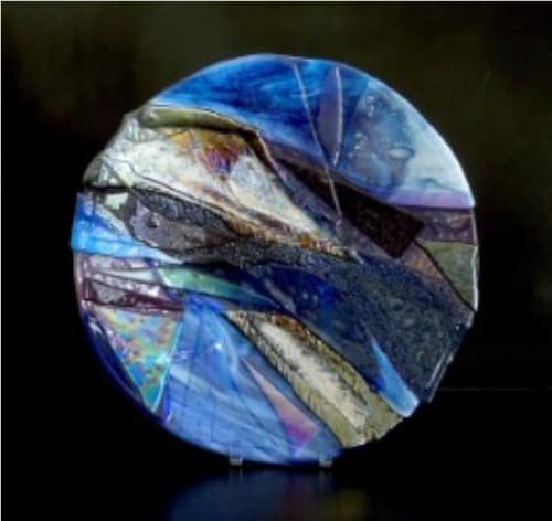 glass art formed in kiln