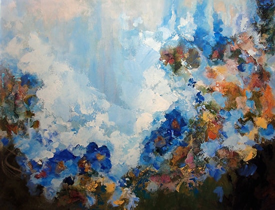 Original mixed media on canvas art by Joyce Gabiou