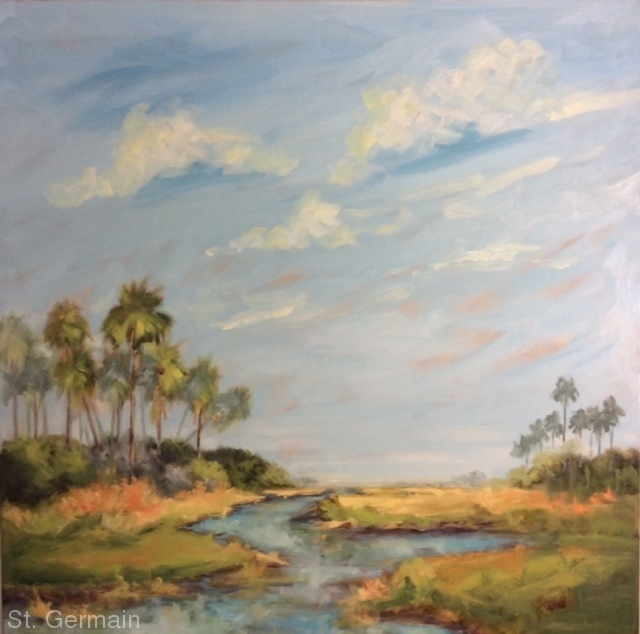 Original oil on canvas art by Mary St Germain