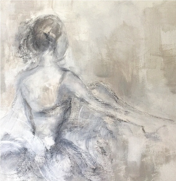 Original acrylic and charcoal on canvas art by Judith Williams