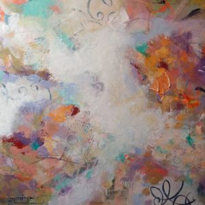 Original mixed media on canvas by Joyce Gabiou