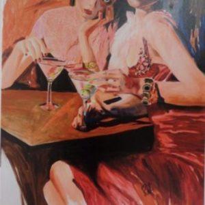 Artist hand embellished giclee by Reet London Bilanchone