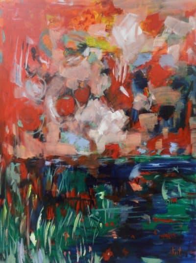 Original acrylic on canvas art by Reet London Bilanchone