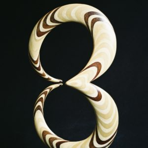 Original laminated wood sculpture using Lauan/Sande (Brosimum Utile) by David Engdahl
