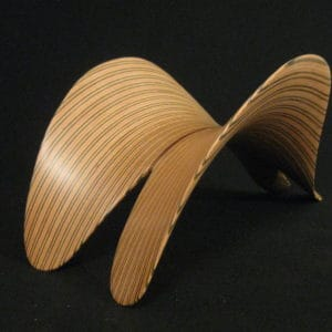 Original laminated wood sculpture using Lauan and Sande (Brosimum Utile)  by David Engdahl