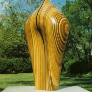 Original laminated wood sculpture using Gum and acrylic by David Engdahl