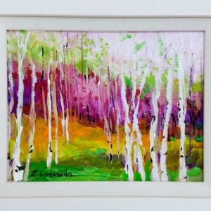 Original Ellen Diamond framed acrylic on canvas