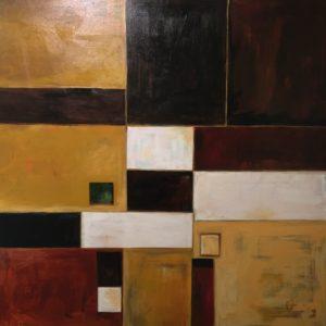 "Original 48"" x 48"" acrylic on canvas by Reet London Bilanchone"