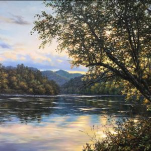 Original oil on canvas by Sergei Orgunov