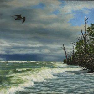 Oil on canvas by Sergei Orgunov
