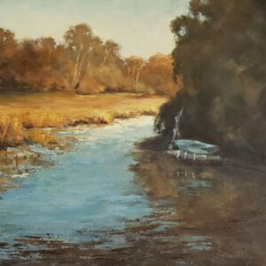 Along the Creek, Oil on Panel, by Gail Beveridge